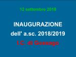 Inaugurazione dell'A.S. 2018/2019 dell'I.C. di Gussago